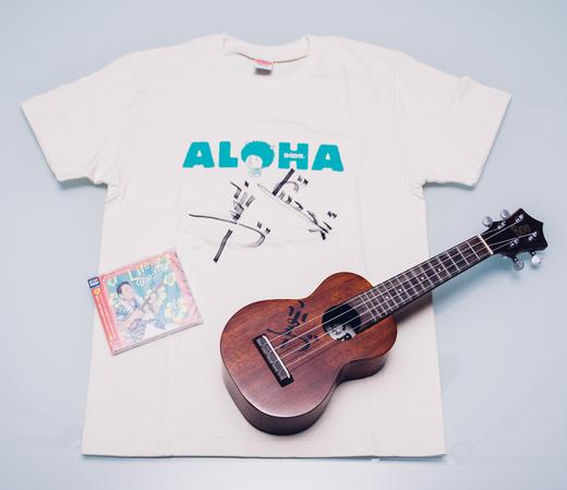 【売約済】高木ブー様ウクレレとサイン入りTシャツ